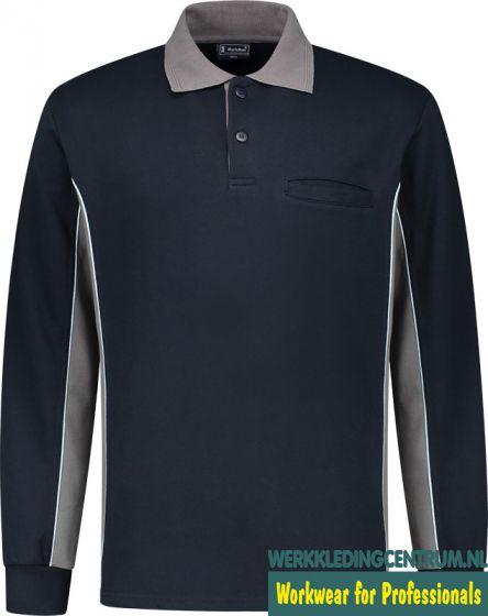 Polosweater Workman Bi-color (div kleurcombi's)